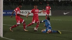 Minerva Punjab played out a draw against Shillong Lajong.(AIFF)