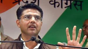 State congress president Sachin Pilot.(File photo)