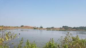 The wetlands on Friday, after the blockages were removed by authorities.(HT)