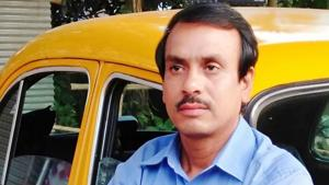 Md Sohidul Laskar, a 46 year-old cab driver, who is building a hospital in a village on the outskirts of Kolkata, will appear in a special programme on the 50th episode of prime minister Narendra Modi's Mann Ki Baat(HT Photo)