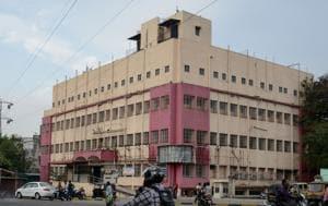 Draupadabai Murlidhar Khedekar general hospital and trauma care centre is located in Bopodi.(Milind Saurkar/HT Photo)