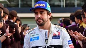 McLaren's Spanish driver Fernando Alonso walks ahead of the Abu Dhabi Formula One Grand Prix.(AFP)