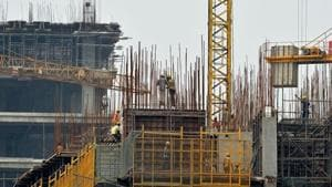 the Central Statistics Office (CSO) estimated that India's GDP grew by 8.5 per cent in the financial year 2010-11 (April 2010 to March 2011) and not at 10.3 per cent as previously estimated.(AFP File Photo)