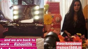Neha Dhupia shared pictures from her brand shoot.