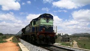 Court officials in Tamil Nadu today tried to seize a train engine over the railways' long-pending default on land acquisition compensation (File Photo)(HT)