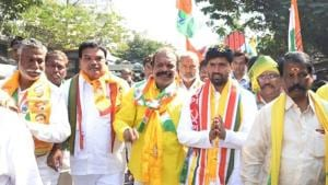In November this year, Telangana Congress president N Uttam Kumar Reddy and central leader RC Khuntia visited Dubai to meet NRIs and migrant workers and seek their support for the party.(Faceboon/ Telangana Youth Congress)