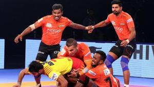 U Mumba defeated Gujarat Fortunegiants in their Pro Kabaddi League encounter.(PKL)