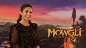 Freida Pinto promotes Netflix's Mowgli: Legend of the Jungle in Mumbai.