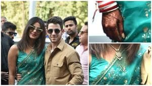 Priyanka Chopra's mehendi has a sweet message for Nick Jonas.(Viral Bhayani)