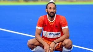 Indian Hockey player Sardar Singh during a practice session ahead of Asian Games 2018.(PTI)