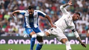 Borja Iglesias (L) joined RCD Espanyol at the start of 2018-19 season.(REUTERS)
