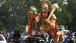 A Dalit teen in Madhya Pradesh has been arrested for posting an allegedly derogatory photo of Lord Hanuman on his WhatsApp account (File Photo)(HT)