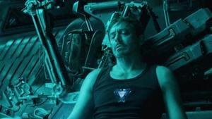 Robert Downey Jr in a still from the Avengers: Endgame trailer.
