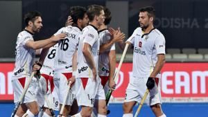 Belgium who finished level on points with table toppers India in Pool C were unlucky not to get a direct entry into the quarters of Hockey World Cup.(PTI)