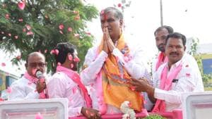 KCR's nephew retains Siddipet seat with 1.20 lakh margin