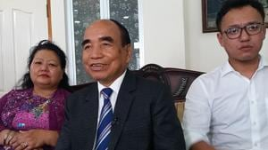 Mizo National Front president Zoramthanga is set to reurn as Mizoram CM(HT Photo)