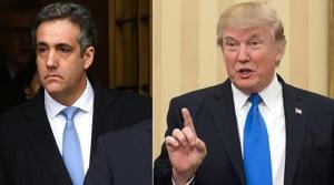 Combination photo of US president Donald Trump (right) and his former lawyer Michael Cohen (left).(AFP Photo)