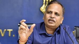 Delhi home minister Satyendar Jain.(Sonu Mehta/HT File)
