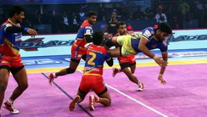 UP Yoddha and Tamil Thalaivas played out a draw in the Pro Kabaddi League (PKL) 2018.(PKL)