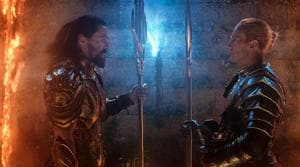This image released by Warner Bros. Pictures shows Jason Momoa, left, and Patrick Wilson in a scene from Aquaman.(AP)