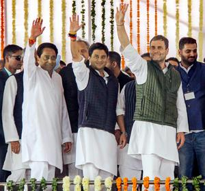 Kamal Nath, Gehlot take oath, Chhattisgarh next: United Oppn, some missing