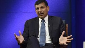 Highlighting that profit of the central bank largely comes due to devaluation of Indian currency, Raghuram Rajan said keeping a portion for the contingency reserves, RBI usually pays entire profit.(Mohd Zakir/HT PHOTO)