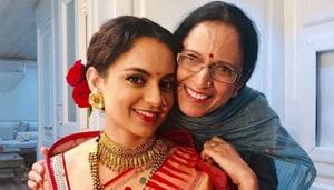 Kangana Ranaut poses with her mother, Asha.