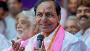 K Chandrasekhar Rao's TRS, which returned to power for a second successive term in the just concluded assembly elections by winning 88 out of 119 seats, is once again ahead of the opposition in preparing for the rural polls.(PTI/File Photo)