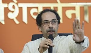 The Shiv Sena, currently a part of the NDA government at the Centre, has announced that it will contest all the 40 Lok Sabha seats in Bihar.(Anshuman Poyrekar/HT Photo)