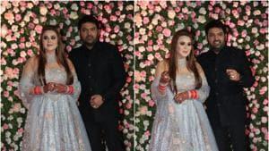 Kapil Sharma and Ginni Chatrath at their Mumbai wedding reception.