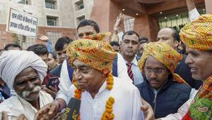 Congress leader Kamal Nath would induct 20 ministers into his cabinet over a week after he took over as the Madhya Pradesh chief minister.(PTI)
