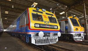The city's lone AC local operates 12 services on a daily basis.(HT file)