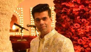 Filmmaker Karan Johar at the wedding ceremony of industrialist Mukesh Ambani's daughter Isha Ambani and Anand Piramal at Antilia in Mumbai.(IANS)
