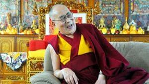 Tibetan spiritual leader the Dalai Lama during the an interview with HT at Mahabodhi Temple campus in Bodh Gaya, Bihar, India, on Sunday, December 23, 2018.(Parwaz Khan/HT Photo)