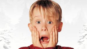 Macaulay Culkin in the Home Alone poster.