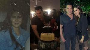 Several Bollywood celebs including Katrina Kaif and Mouni Roy attended Salman Khan's birthday bash on Wednesday.(Viral Bhayani)