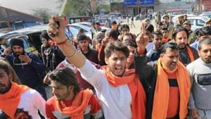 Bajrang Dal activists have warned they will protest New Year celebrations in Bengaluru ( File Photo)(PTI)