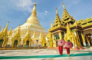 Shwedagon pagoda is Yangon's most famous and biggest pagoda(Getty images)