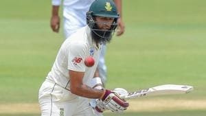 South Africa's Hashim Amla plays a shot during day three of the 1st Test match between South Africa and Pakistan.(AFP)