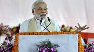 Prime Minister Narendra Modi will visit his parliamentary constituency, Varanasi, on Saturday at the start of a busy domestic schedule as he shrugs aside the Bharatiya Janata Party's recent electoral reverses and renews contact with his constituents in an early start to the campaign for next year's Lok Sabha elections.(PTI)