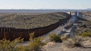 This photo shows the border fence under construction near New Mexico's Highway 9, near Santa Teresa on December 23, 2018. - The US government began a Christmastime shutdown early on December 22, after Congress adjourned without passing a federal spending bill or addressing President Donald Trump's demand for money to build a border wall.(AFP Photo)