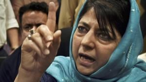 """Former J-K chief minister and PDP leader Mehbooba Mufti has opposed the triple talaq bill as """"a Muslim and a woman who has also gone through a broken marriage"""", at a time when there is an """"assault on the family structure of Muslims"""".(PTI File)"""