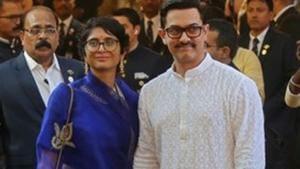 Bollywood actor Aamir Khan and his wife Kiran Rao arrive to attend the wedding of Isha Ambani.(REUTERS)