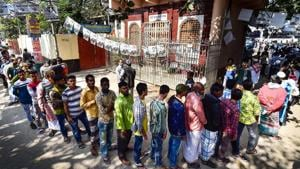 Voters wait in line outside a polling station. Image for representation.(AFP file photo)