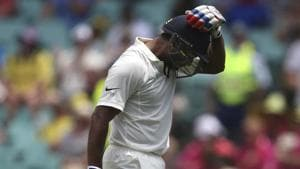 India vs Australia: Mayank Agarwal holds his head after he was caught out for 77 runs against Australia during their cricket test match in Sydney, Thursday, Jan. 3, 2019(AP)