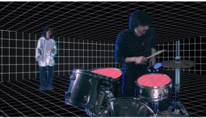 In the video for Dualist Inquiry's 'You & Me', singers Sahej Bakshi and Sanchal Malhar (in silver, above) float and groove against a background created in collaboration with illustrator and animator Arushi Kathuria.