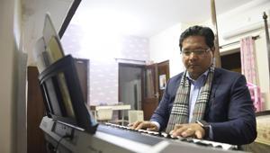 Conrad K Sangma, Chief Minister of Meghalaya at his residence on APJ Abdul Kalam in New Delhi, India, on Monday, November 26, 2018.(Sanchit Khanna/HT Photo)
