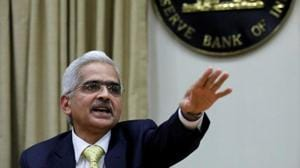 Shaktikanta Das, the Reserve Bank of India (RBI) governor, gestures as he attends a news conference in Mumbai on December 12.(REUTERS)