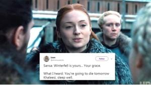 Sansa Stark may have given her home to Daenerys Targaryen but she doesn't seem too happy about it.