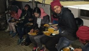 The Indian Army said it rescued hundreds of tourists from Lachung Valley in north Sikkim on Wednesday night.(HT Photo)
